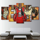 5 Pieces CANVAS Colorful Classic Guitar Draw Art Wall Decor and Home Decorating