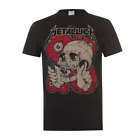 Metallica Heavy Metal Official Metallica skull T Shirt Black Cotton S-6XL image