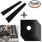 Stove Burner Covers  4 Pack + Silicone Stove Counter Gap 2 Pack for Kitchen