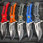 Military Tactical Camping Spring Open Assisted Folding Rescue Pocket Knife