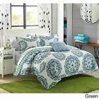 Chic Home Miranda Medallion Reversible 8-piece Quilt Bed in a Bag with White