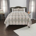 Maddux Place Grey Hand Quilted Cotton Reversible 3-Piece Quilt Set image