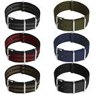 Nato Watch Strap Nylon Men Wrist 18mm 20mm 22mm Smart Military Pin Straps <br/> UK Next Day 18, 20 & 22mm Stainless Steel Clasp