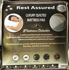 Quilted Fitted Hypoallergenic Mattress Pad Cover Protector Deep Pocket Six Sizes image