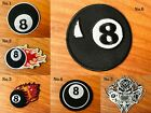 Snooker Billiard Ball Black No.8 biker motorcycle Logo biker Sew/Iron On Patch $2.98 USD on eBay