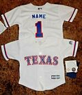 Texas Rangers MLB Majestic Infant Replica Jersey add name  number