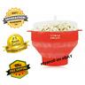 Popcorn Silicone Microwave Maker Popper Collapsible Bowl Healthy Pop Air Popper