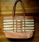 Stella & Dot Camel Gold Fleck or Reptile Print or Woven Large Tote Bags