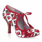 NEW Ruby Shoo Willow Shoe UK3-9 EU36-42 Red Tulip / Blue Peach Coral Aqua Floral