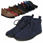 Women Casual Lace Up Soft Oxford Flat Heel Ankle Boots Booties Comfort Shoes