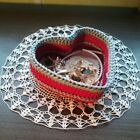 Crochet Basket Storage Box From Rope Red Silver Home Table Decoration Gifts