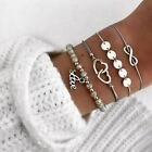 Fashion Charm Women Stainless Steel Lots Style Cuff Open Bracelet Bangle Chain