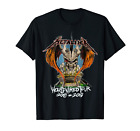 Rock Band Metallica Skull gift Worldwired tour T Shirt Black Cotton S-5XL image