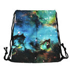 Unisex Drawstring School Tote Casual Backpack Cinch Sack Gym Shoes Sport Bag Hot