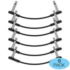 """6pack 6"""" Guitar Patch Cables Right Angle 1/4 Instrument Cable For Effect Pedal"""