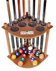 Cue Rack Floor Stand Corner Billiards Storage Table Accessory With Scorer Black