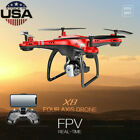 20 Minutes Flying 2.4G 6 Axis Gyro FPV RC Quadcopter W/720P HD Camera Drone USA