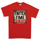 Twitch Time Do Not Disturb Stream Game sign Mens T shirt Tee Top T-shirt
