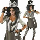 Hallowed Hatter Alice Fancy Dress Costume Adult Ladies Halloween