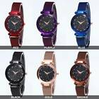 2 Pack Watch Starry Sky Diamond Dial Women Bracelet Watches Magnetic Stainless image