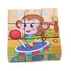 Внешний вид - Wooden 6 Sides Cartoon Puzzle Blocks Early Baby Educational Jigsaw Toys S