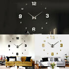 Large DIY 3D Wall Clock Frameless Hanging Clock Watch Modern Home Office Decor