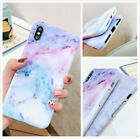 Slim Fit Reflective Marble Case Protective Cover For iPhone Xs Max XR 7 8 Plus