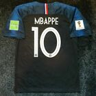 Pogba Mbappe Griezman France World Cup 2018 Jersey Men's Soccer WC Patches
