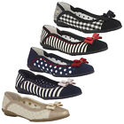 Ruby Shoo Lizzie Ballerina Flats Pumps Flexible Sole UK 2- 9  Check Stripe Plain