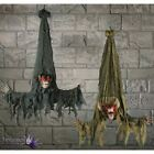 Bat Reaper Light Up Eyes Moving Kicking Legs Halloween Horror Prop Decoration
