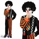 Child Boys Evil Sinister Clown Circus Horror Scary Halloween Fancy Dress Costume