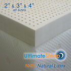 NEW Certified 100 Natural Dunlop Latex Mattress Pad Topper, Green US Made