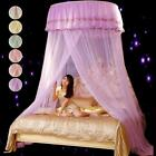 Elegant Lace Bed Mosquito Netting Mesh Canopy Princess Round Dome Bedding Net image