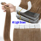 Tape in 100% Remy Human Hair Extensions Full Head With Strong Adhesive Tape US L
