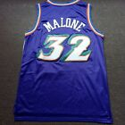 Utah Jazz Karl Malone #32 Retro Throwback Sewn Swingman Basketball Jersey White on eBay