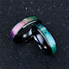 His Crazy Her Weirdo Color Changing Titanium Couple Rings Jewelry Gift Sanwood