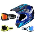 Scorpion VX-16 Offroad Albion Air Crosshelm blau grau TWO-X Race Crossbrille