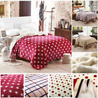 Flannel Faux Fleece Super Soft Warm Lightweight Reversible Throw Bed Blanket image