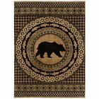 Mayberry Rugs Asheville Lodge Bear Area Rug