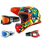 Oneal Backflip Muerta Fahrrad Helm Downhill MTB Mountainbike bunt TWO-X Brille