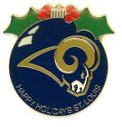Rams Vintage Pin Choice 7 Pins Some new on card St. Louis   Los Angeles NFL