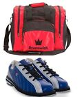 Mens 900 Global KICKS Bowling Shoes Navy/Silver Sizes 4.5-14 & Red 1 Ball Bag