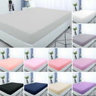 "Soft Fitted Sheet Flat Bed Sheet 15"" Deep Pocket for Twin/Full/Queen/King Size image"