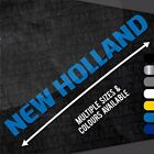New Holland Sticker Decal - Multiple Colours & Sizes - Tractor Combine Harvester