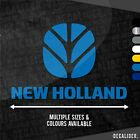New Holland with Badge Above Sticker / Decal Multiple Colours & Sizes - Tractor