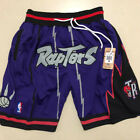 New Men's Toronto Raptors just don LOGO Basketball Pants Shorts Mesh purple on eBay