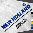 New Holland with Girl on Top Sticker Decal - Multiple Colours & Sizes - Tractor