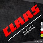 Claas Sticker / Decal - Multiple Sizes & Colours Available - Tractor / Harvester