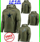 New DALLAS COWBOYS Olive American Football Salute to Service Sideline Hoodie USA on eBay