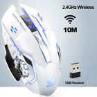 Rechargeable X8 Wireless Silent LED Backlit USB Optical Ergonomic Gaming Mouse X
